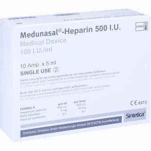 Abbildung von Medunasal - Heparin 500 I.u. Ampullen 10 x 5 ml