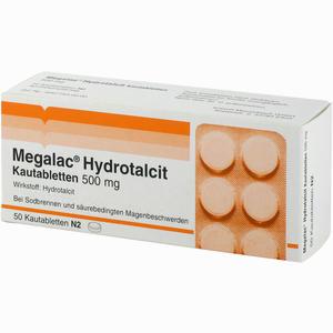 Abbildung von Megalac Hydrotalcit Kautabletten 50 Stück