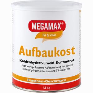 Abbildung von Megamax Aufbaukost Banane Pulver 1.5 KG