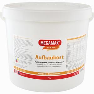 Abbildung von Megamax Aufbaukost Erdbeere Pulver 7 KG
