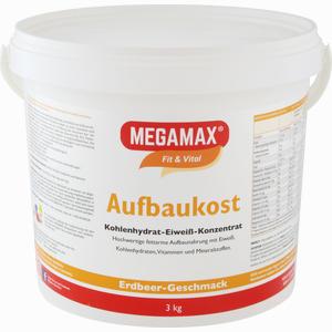 Abbildung von Megamax Aufbaukost Erdbeere Pulver 3 KG