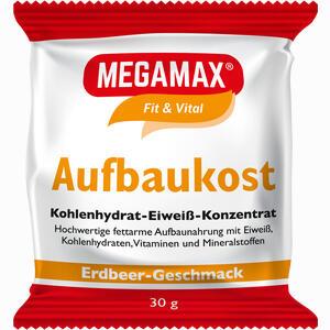 Abbildung von Megamax Aufbaukost Erdbeere Pulver 30 g
