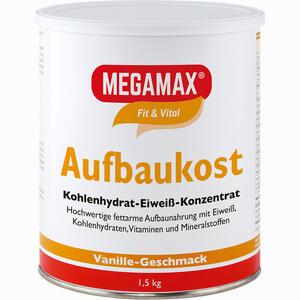 Abbildung von Megamax Aufbaukost Vanille Pulver 1.5 KG