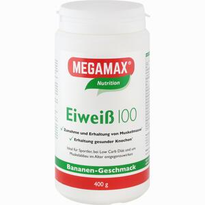 Abbildung von Megamax Eiweiß 100 Banane Pulver 400 g