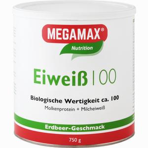 Abbildung von Megamax Eiweiß 100 Erdbeer Pulver 750 g