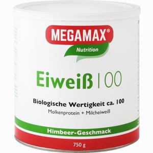 Abbildung von Megamax Eiweiß 100 Himbeer Pulver 750 g