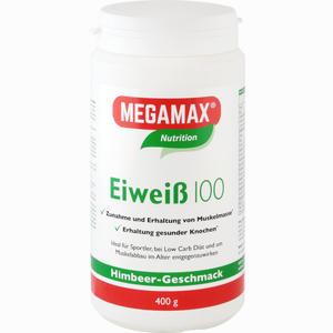 Abbildung von Megamax Eiweiß 100 Himbeere Pulver 400 g