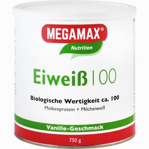 Abbildung von Megamax Eiweiß 100 Vanille Pulver 750 g
