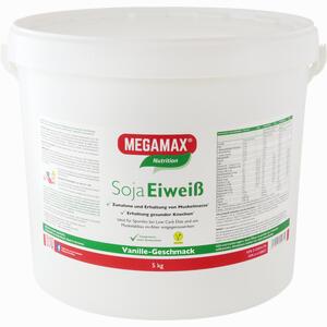 Abbildung von Megamax Soja Eiweiss Vanille Pulver 5 KG