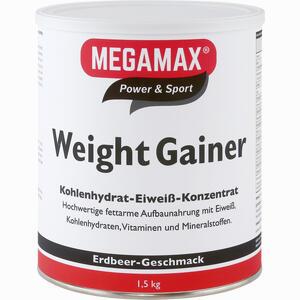 Abbildung von Megamax Weight Gainer Erdbeer Pulver 1500 g