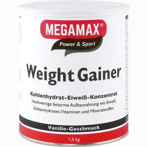 Abbildung von Megamax Weight Gainer Vanille Pulver 1500 g