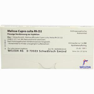 Abbildung von Melissa Cupr Cul Rh D2 Ampullen 8 x 1 ml