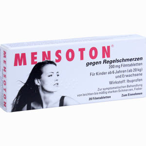 Abbildung von Mensoton gegen Regelschmerzen Filmtabletten 20 Stück