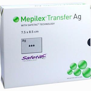 Abbildung von Mepilex Transfer Ag 7,5 X 8,5 Cm Verband B2b medical 10 Stück