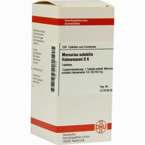 Abbildung von Mercurius Solubilis Hahnemanni D6 Tabletten  200 Stück