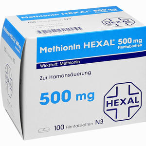 Abbildung von Methionin Hexal 500 Mg Filmtabletten 100 Stück