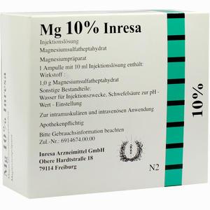 Abbildung von Mg 10% Inresa Ampullen 10 x 10 ml
