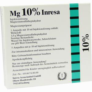 Abbildung von Mg 10% Inresa Ampullen 5 x 10 ml