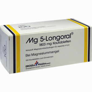 Abbildung von Mg 5 Longoral Kautabletten 100 Stück