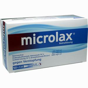 Abbildung von Microlax Klistier Johnson&johnson otc 50 x 5 ml
