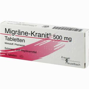 Abbildung von Migräne- Kranit 500mg Tabletten  10 Stück