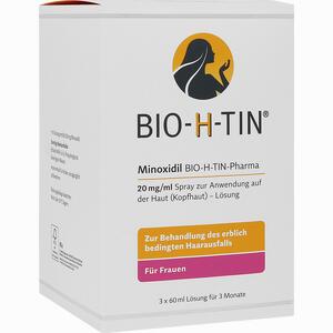 Abbildung von Minoxidil Bio- H- Tin Pharma 20mg/ml Lösung  3 x 60 ml
