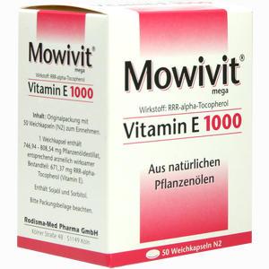 Abbildung von Mowivit Vitamin E 1000 Kapseln 50 Stück