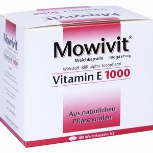 Abbildung von Mowivit Vitamin E 1000 Kapseln 100 Stück