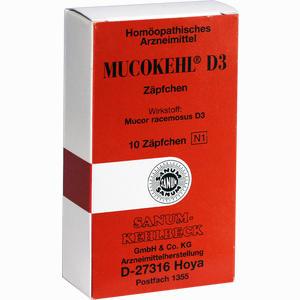 Abbildung von Mucokehl D3 Zäpfchen 10 Stück