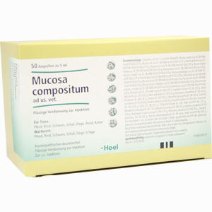 Abbildung von Mucosa Comp Ad Us Vet Ampullen 50 x 5 ml