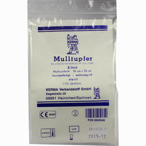 Abbildung von Mulltupfer Steril 15x15 Walnussgross 5 Stück