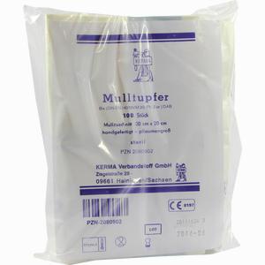 Abbildung von Mulltupfer Steril 20x20 Pflaumengross  100 Stück