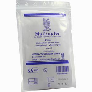 Abbildung von Mulltupfer Steril 20x20 Pflaumengross  5 Stück