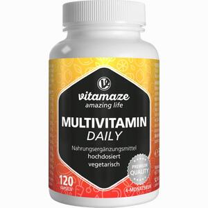 Abbildung von Multivitamin Daily Ohne Jod Vegetarisch Kapseln 120 Stück