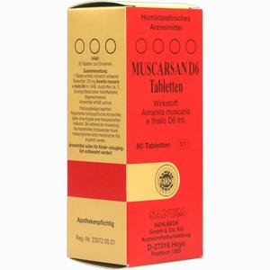 Abbildung von Muscarsan D6 Tabletten 1 x 80 Stück