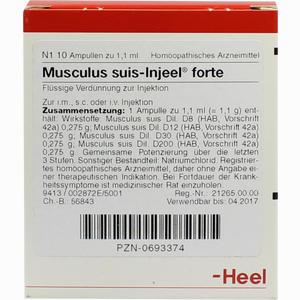 Abbildung von Musculus Suis- Injeel Forte Ampullen  10 Stück