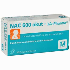 Abbildung von Nac 600 Akut- 1a- Pharma Brausetabletten 10 Stück