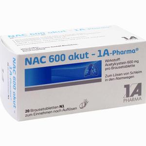 Abbildung von Nac 600 Akut- 1a- Pharma Brausetabletten 20 Stück