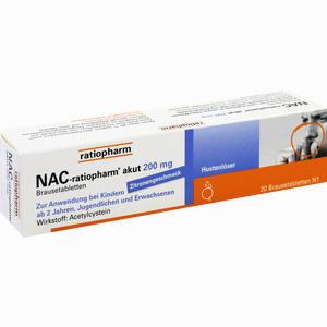 Abbildung von Nac- Ratiopharm Akut 200 Hustenlöser Brausetabletten 20 Stück