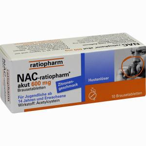 Abbildung von Nac- Ratiopharm Akut 600 Hustenlöser Brausetabletten 10 Stück