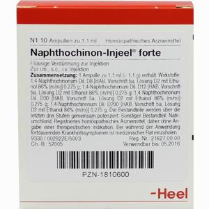 Abbildung von Naphthochinon- Injeel Forte Ampullen  10 Stück