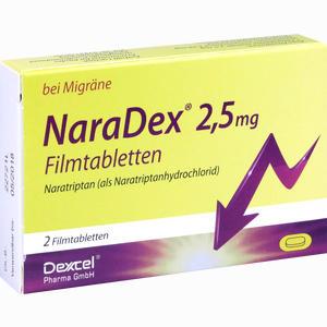 Abbildung von Naradex 2.5 Mg Filmtabletten  2 Stück