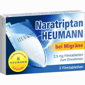 Abbildung von Naratriptan Heumann bei Migräne 2.5 Mg Filmtabletten  2 Stück