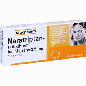 Abbildung von Naratriptan- Ratiopharm bei Migräne Filmtabletten  2 Stück