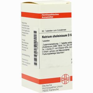 Abbildung von Natrium Choleinicum D6 Tabletten 80 Stück