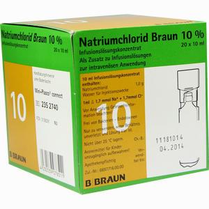 Abbildung von Natriumchlorid 10% Mpc Elektrolytkonzentrat Lösung 20 x 10 ml