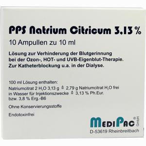 Abbildung von Natriumcitrat 3.13% Ampullen  10 x 10 ml