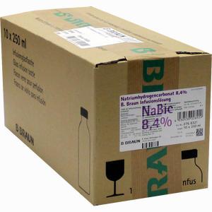 Abbildung von Natriumhydrogencarbonat 8.4% B. Braun Glas Infusionslösung 10 x 250 ml