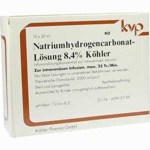 Abbildung von Natriumhydrogencarbonat- Lösung 8.4% Köhler Infusionslösung 10 x 20 ml