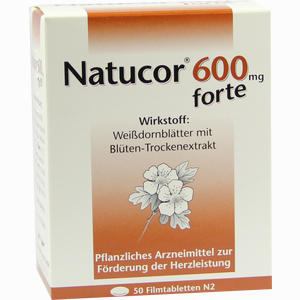 Abbildung von Natucor 600mg Forte Filmtabletten 50 Stück